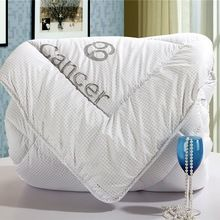 2015 новый белый созвездие утешитель emboridery победитель утешитель утолщаются пуховое одеяло с начинкой победитель одеяла воланами кровать одеяла(China (Mainland))