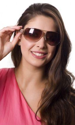 Óculos Cavalera Metal Grande Dourado c/ Bege Feminino