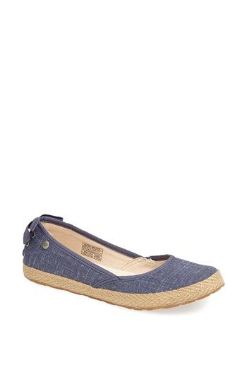 UGG® Australia 'Indah' Flat (Women) available at #Nordstrom... Love these in white !