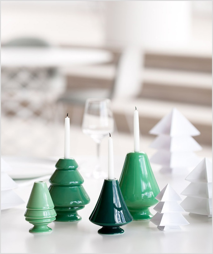Christmas candle holders by Kähler