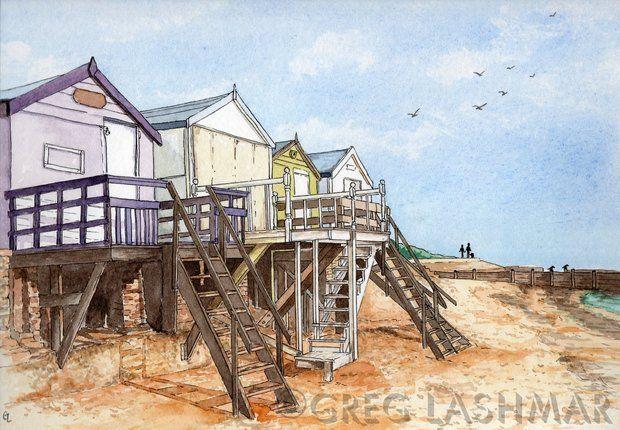 Beach Huts on Hipkins Beach