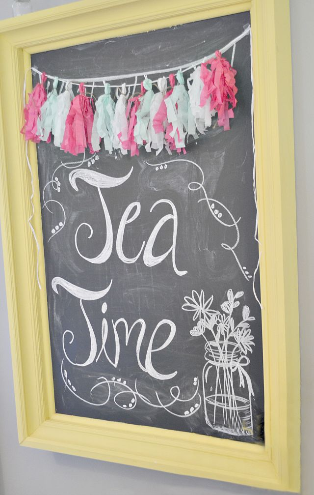 Rustic Chic Tea Party Themed Baby Shower via Fawn Over Baby Blog #babyshower #teapartyshower #teaparty