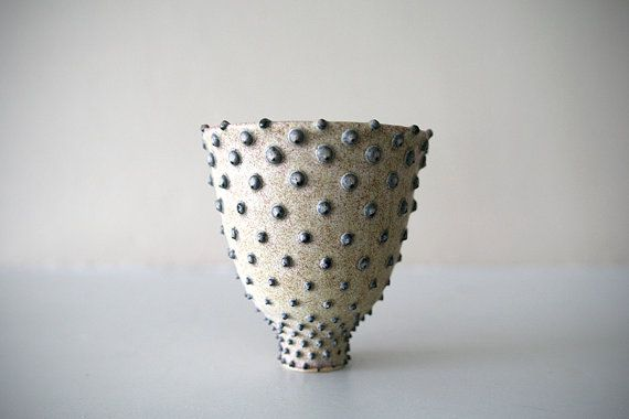 Stoneware Cup with Pale Yellow Beige Glaze and by LeiliDesign, $65.00