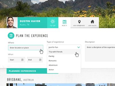Travel Website Concept by Dustin Haver