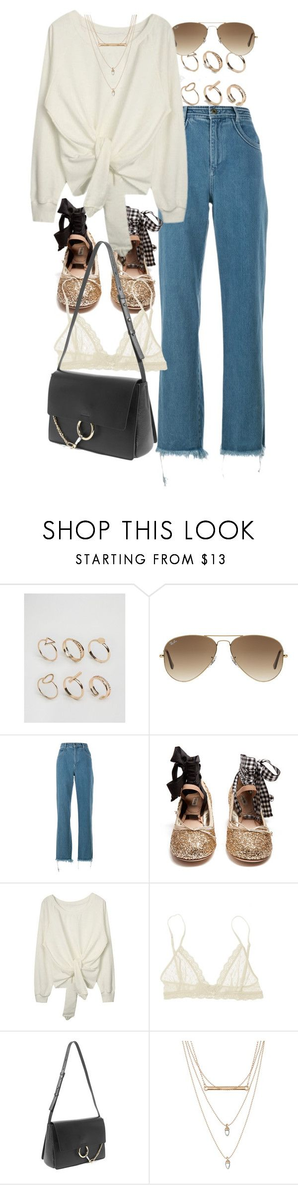 """""""Untitled #10245"""" by nikka-phillips ❤ liked on Polyvore featuring ALDO, Ray-Ban, Chloé, Miu Miu, Eberjey and Free Press"""