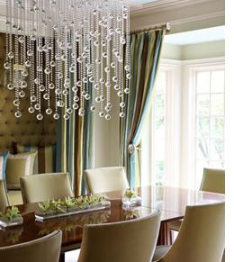 Love this lighting idea: Dining Rooms, Contemporary Chandeliers, Fairley Interiors, Lights Fixtures, Interiors Design, Crystals Chandeliers, Toby Fairley, Lights Ideas, Bays Window