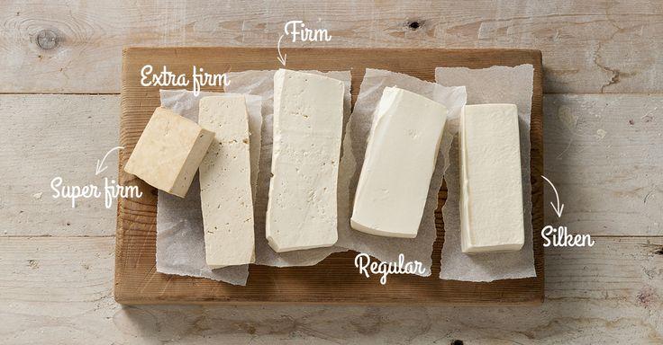 Alle soorten tofu - silken, regular, firm, extra firm, super firm.