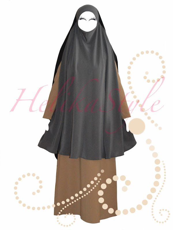 Khimar-cape sewing tutorial. Khimar with slits for the hands | HelikaStyle