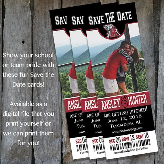 Alabama Football Themed Save the Date by IrresistibleInvites1