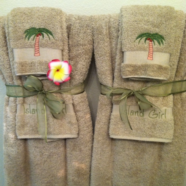 96 best Decorative Towels images on Pinterest Bathroom ideas - decorative towels for bathroom ideas
