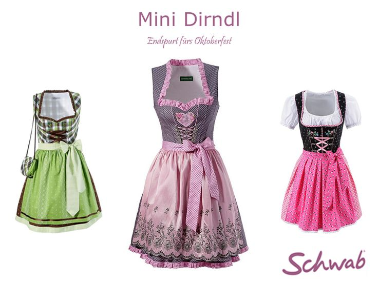 Mit dem #Mini #Dirndl könnt Ihr das #Oktoberfest noch einmal richtig genießen