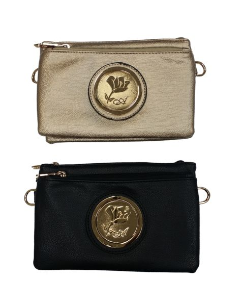 $27.97 - Arcadia Gold Flower Shoulder Bag