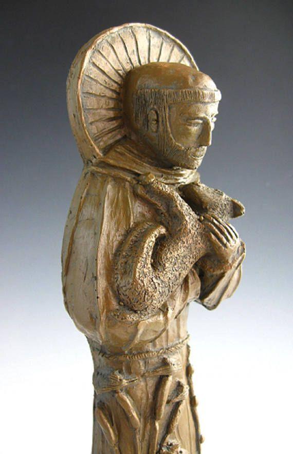 Heiliger Franziskus, Schutzpatron der Natur: Handgemachte Statue – Products