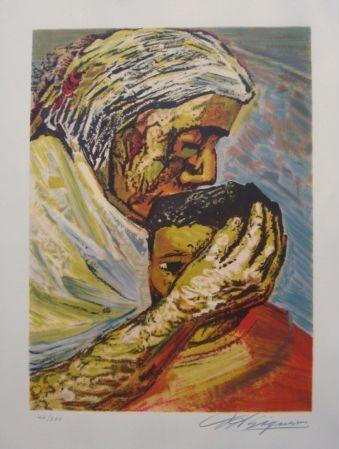 David Alfaro Siqueiros - Maternidad.  Art Experience NYC  www.artexperiencenyc.com