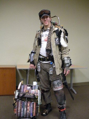 Post-Apocalyptic Armor   books these scavengers are ready for the post apocalyptic world