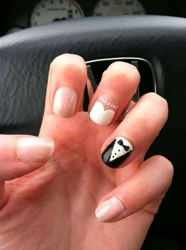 trendy wedding nail art designs 2014
