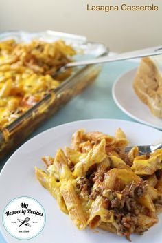 Lasagna Casserole - This Lasagna Casserole is also known as Johnny Marzetti. It can be adapted to your families tastes, makes for a great freezer meal, feeds a crowd on a budget or great to give to a new Mom.