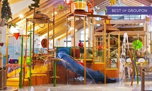 Groupon - Stay with Daily Water Park Passes and Breakfast at Great Wolf Lodge New England in Fitchburg, MA. Dates into April. in Fitchburg, MA. Groupon deal price: $149