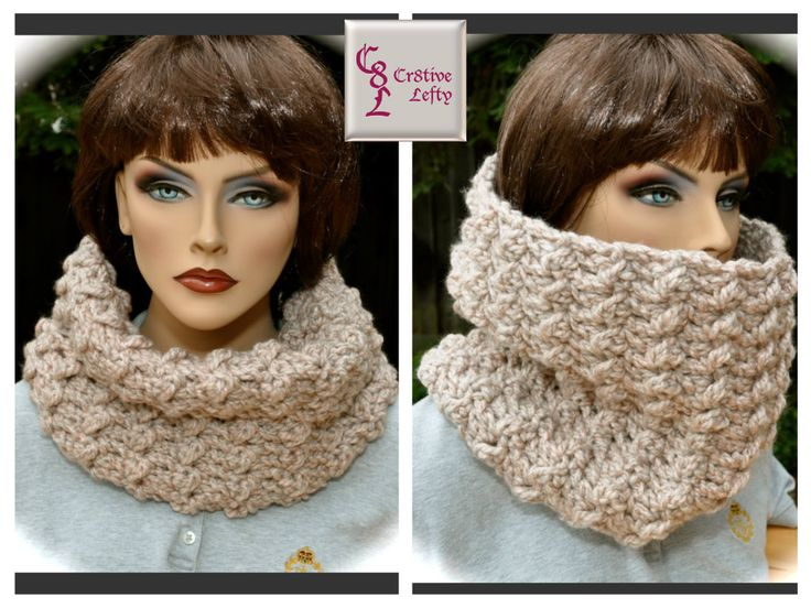 Calling all Outlander fans !! This oatmeal cowl is inspired by the character Claire Fraser. It is created using very soft bulky yarn and is easy to care for because it is machine washable. The oatmeal color, makes this a welcome accessory to any outfit. It is very versatile and can be worn either folded in half or unfolded, (great for very cold weather. Handmade in the USA. $22.00 + shipping. #outlander #crochet #handmade
