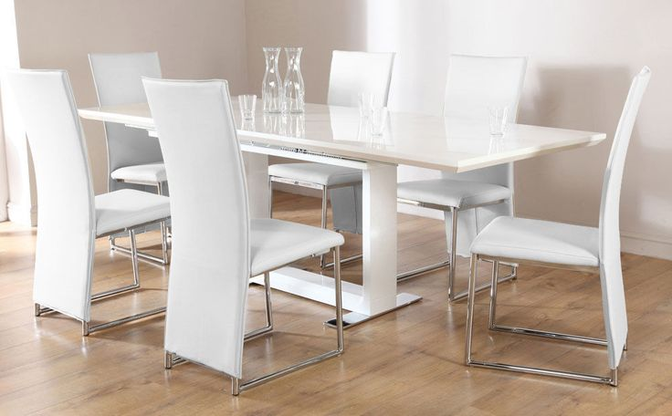tokyo athens extending white high gloss dining table 4 6 8 chairs set white athens. Black Bedroom Furniture Sets. Home Design Ideas