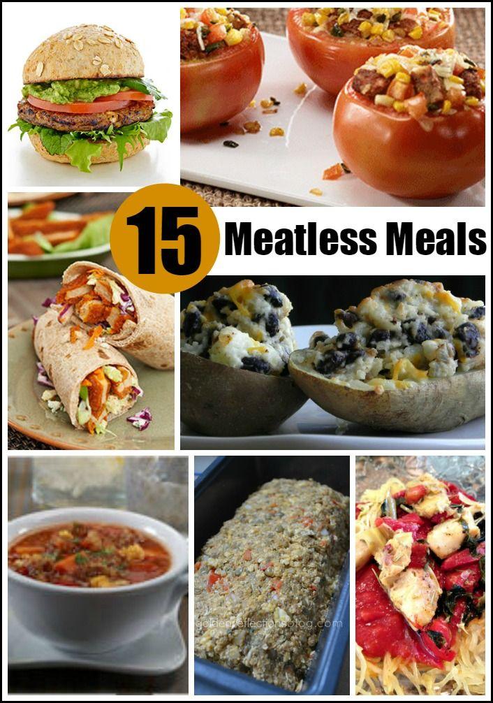 15 Meatless Meals - Great for vegetarians or those meatless nights. #foodie #sponsored