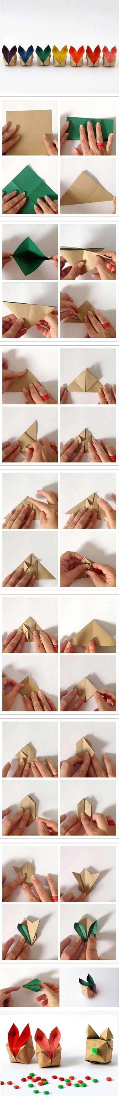 Cute little bunny origami box
