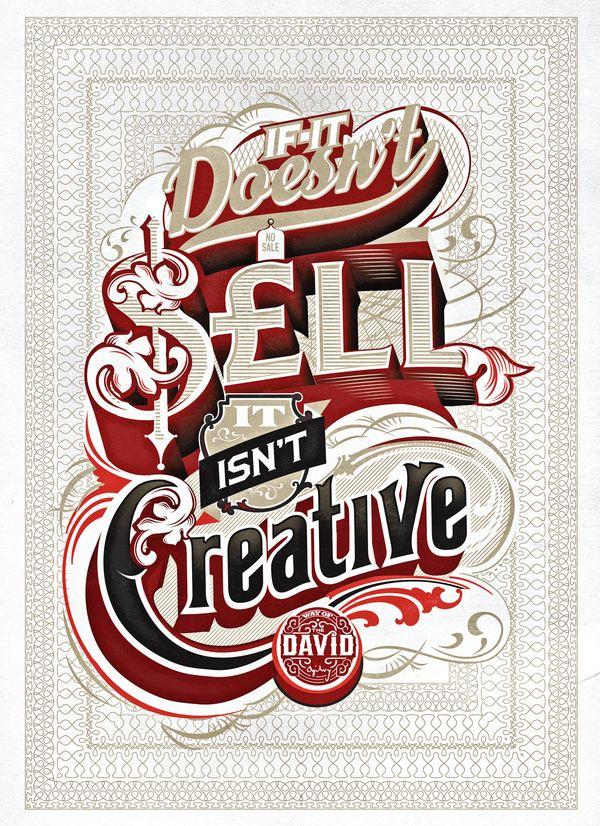 Way of David - David OgilvyCreative, Typo Design, Typography Poster, Graphics Design, Types Design, Typographic Poster, Behance Network, Design Studios, Mindfulness Studios