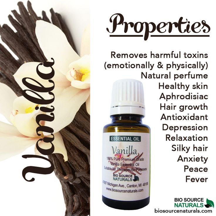 Vanilla essential oil properties—it does more than just smell delicious! #aromatherapy