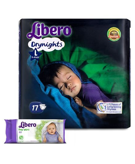 Libero Drynights Diapers Large - 17 Pieces