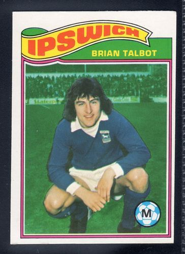 TOPPS FOOTBALLERS ORANGE BACK BRIAN TALBOT-IPSWICH TOWN No.243