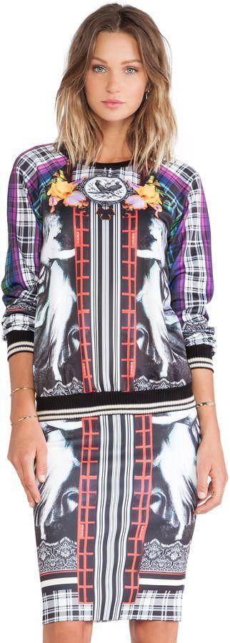 Clover Canyon - Rainbow Crest Fleece Sweatshirt