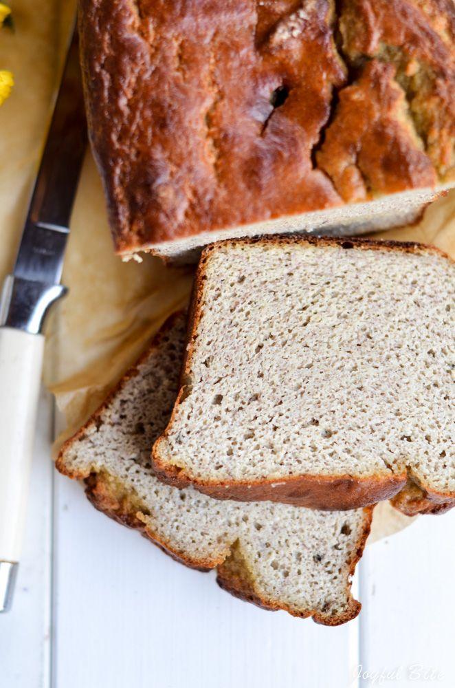 paleo banana bread, 5 minute recipe, blender bread, grain free, dairy free, stevia recipe, sugar free, low carb