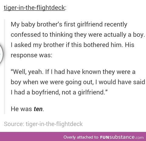 Tumblr. He's going to be a good guy :) <<<I thought this said He's going to be a good gay