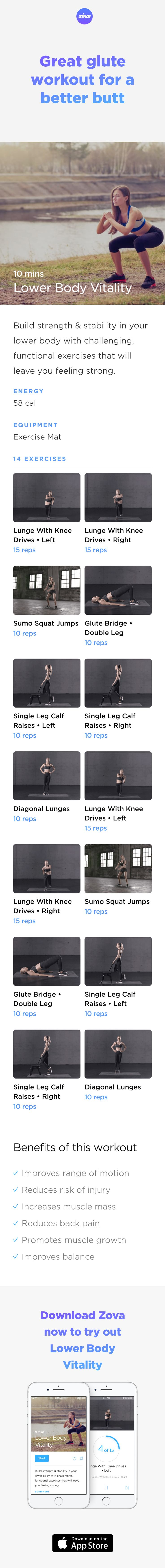All hail the glute muscles! These guys help keep us stable, balanced and active, and they are the key to a better butt. This quick workout focuses on your glutes and hip flexors. Not only will it tighten and grow your glutes, it'll also make everyday mobility easier. #HIIT #booty #butt #workout #fitness #squat #bodyweight