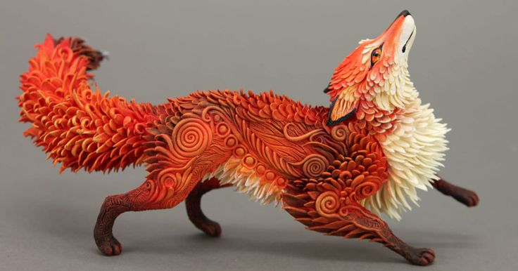 Russian Artist Creates Fantasy Animal Sculptures From Velvet Clay (15+ Pics) | Bored Panda