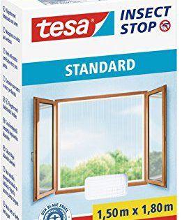 Tesa 55680-00000-01 Moustiquaire pour fenêtre Standard Blanc: Facile à installer grâce à l'adhésif auto-agrippant Se découpe à la dimension…