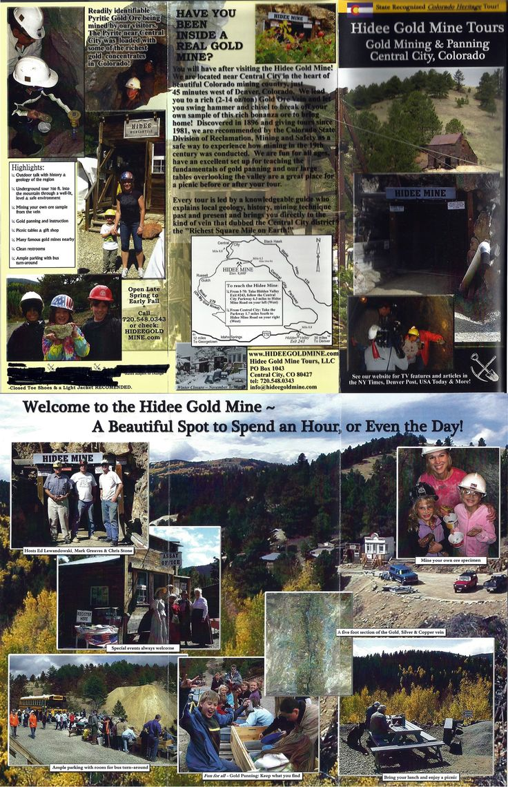 Hidee Gold Mine Tours And Panning Central City Colorado ~ 40 Minutes Out Of  Denver