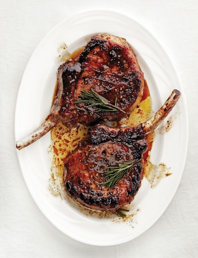 Sweet and Sour Glazed Pork Chops (Maiale in Agrodolce) Recipe - Saveur.com