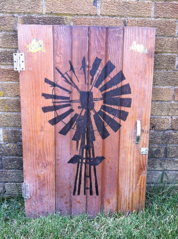 Upcycled Pyrography Art TITLED Country Windmill by VintageUpCycler, $100.00