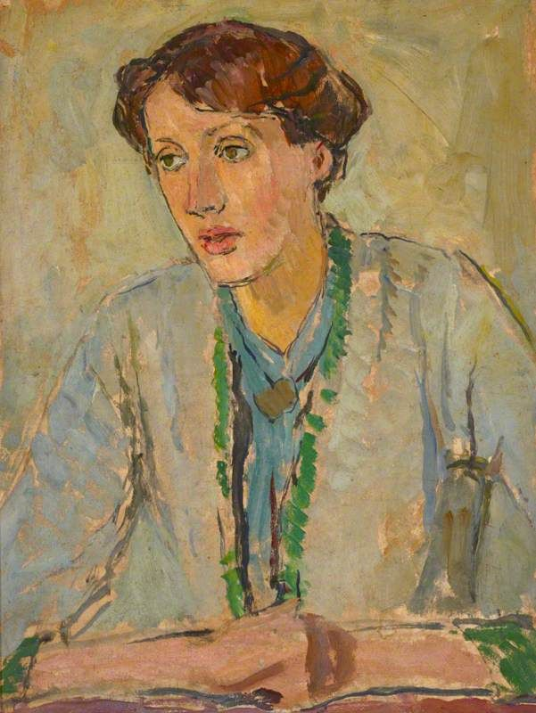Virginia Woolf (1882–1941) by Vanessa Bell Date painted: c.1912 Oil on panel, 55 x 45 cm Collection: National Trust