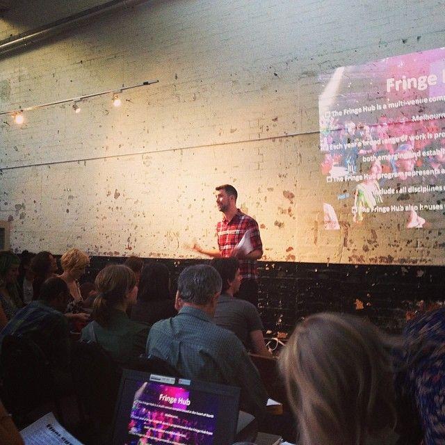 """@jayne_love's photo: """"@Melbourne Fringe 2014 Festival Info Session #mfringe @Melbourne HQ"""""""