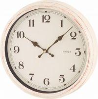 電波時計エアリアルレトロアンティークホワイト