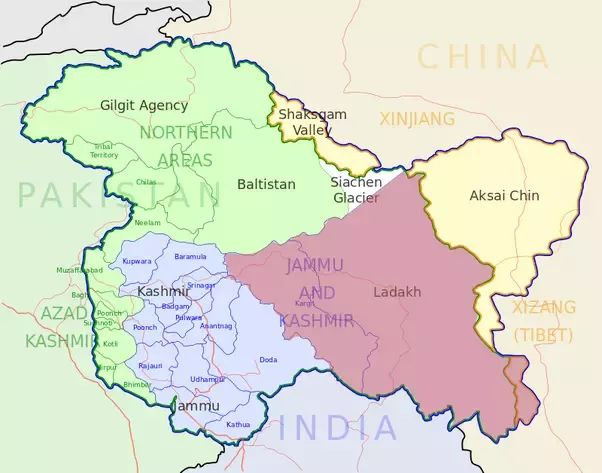 What is the correct map of Jammu & Kashmir of India? - Quora