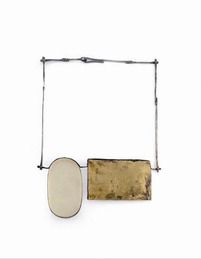Lisa Kröber. Necklace. Materials: silver, brass, tin, wax, resin, lack. Great Work.