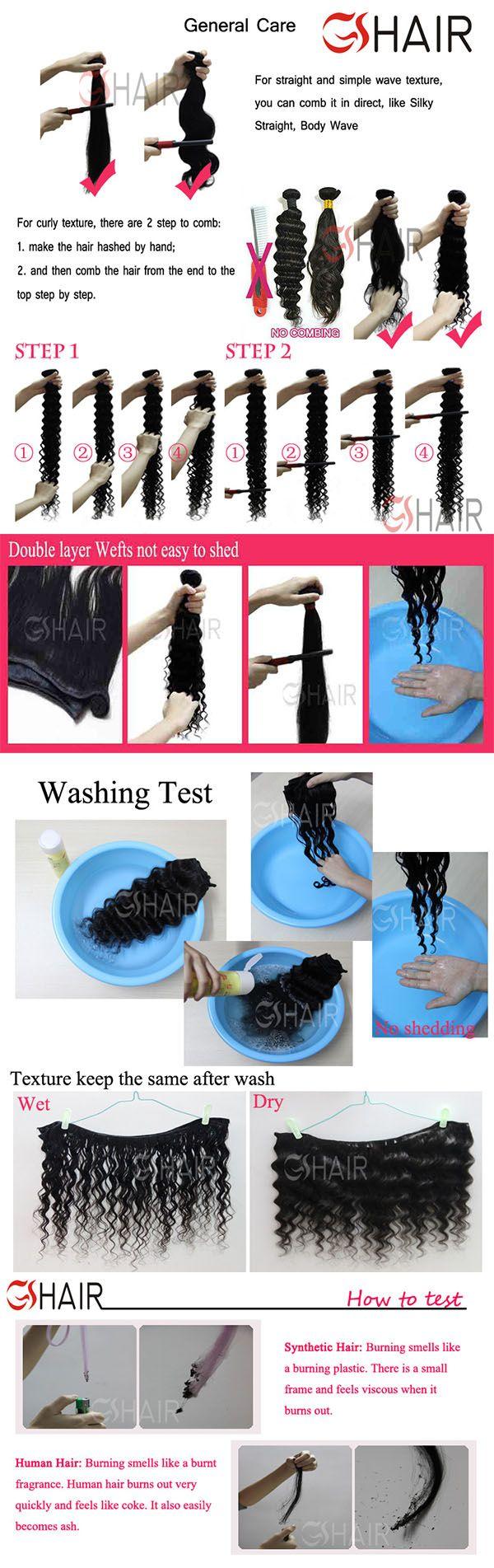 Virgin GS hair washing Test brazilian virgin remy human hair