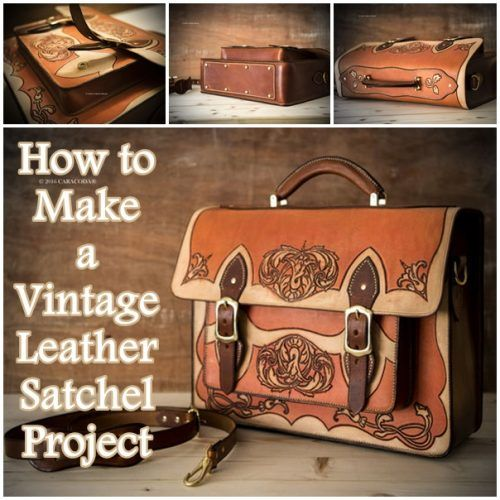 """How to Make a Vintage Leather Satchel Project Homesteading  - The Homestead Survival .Com     """"Please Share This Pin"""""""