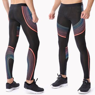 Gym Sports Athletic Leggings Fitness Pants Mens Yoga Jogging Stretchy Tight Hips Trousers