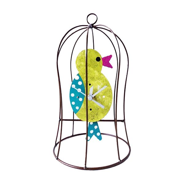 Oxidos Chicken in Cage Clock - Green