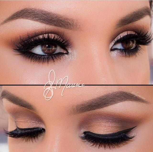 #ShareIG Flawless work done by @naturallyfake soft smokey eyes, paired with a neutral lip is one of my favorites