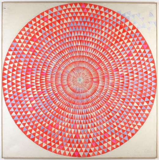 ill-mannered:MANFRED KUTTNERKreis Mo - 1963tempera, fluorescent paint on linen200 x 200cm / 783/4 x 783/4 in